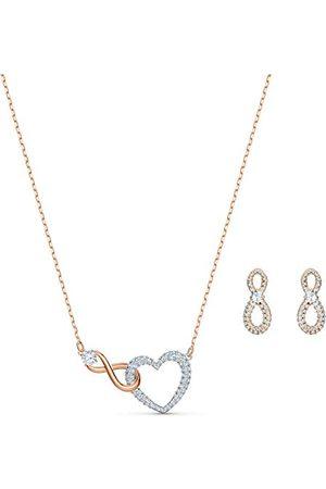 Swarovski Infinity hjärtset, vitt, metallmix