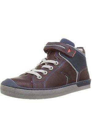 Kickers Boy's Irelas Sneaker, Marron Fonce Marine25 EU