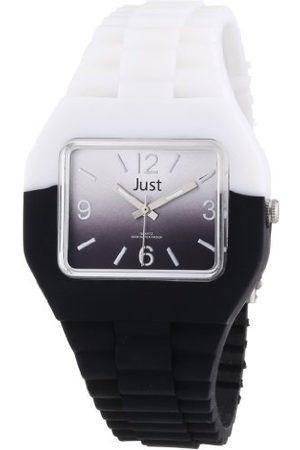 Just Watches Unisex-armbandsur analog gummi 48-S6501-WH-BK