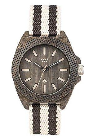 WeWood Herr analog kvarts smartklocka armbandsur med tyg armband WW54001