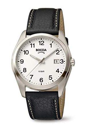 Boccia Herr analog kvartsklocka med läderarmband 404TT3608-13