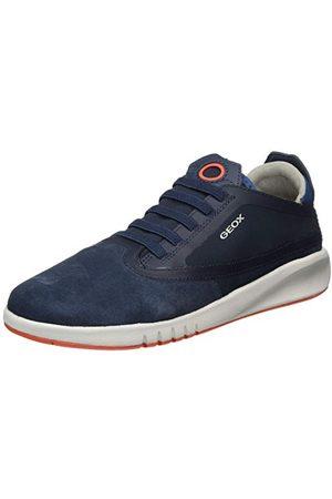 Geox Pojkar J Aeranter Boy B Sneaker, Marinblå Dk Orange31 EU