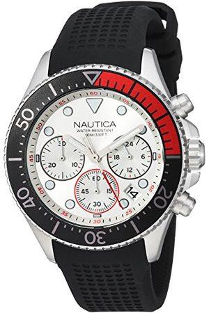 Nautica Herr analog japansk kvartsklocka med silikonarmband NAPWPC001