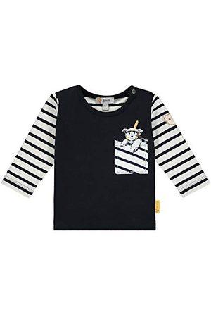 Steiff Baby-pojkar med söt teddycarry-pplikation t-shirt långarm