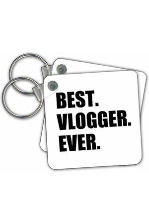 3dRose Best Vlogger Ever rolig jobbstolthet gåva för världens bästa vloggningsarbete nyckelring, 6 cm; varierar
