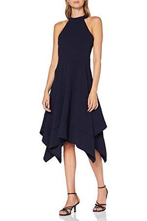 Mela Dam hög hals assymetrisk klänning cocktail
