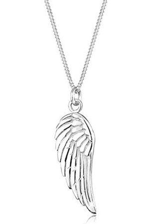 Elli Dam 925 sterlingsilver vinge fjäder hänge halsband45 cm längd
