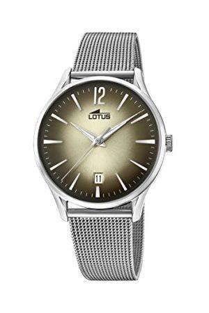 Lotus Herr datum klassisk kvartsklocka med rostfritt stål armband 18405/2