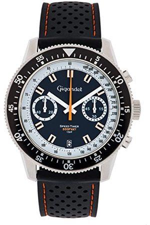Gigandet G7 – 001 – klocka för män, svart silikonrem