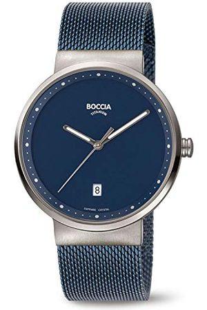 Boccia Herr analog kvartsklocka med rostfritt stål armband 3615–05
