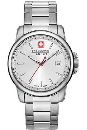 Swiss Military Hanowa Man Klockor - Unisex vuxen analog kvarts klocka med rostfritt stål armband 06-5230.7.04.001.30