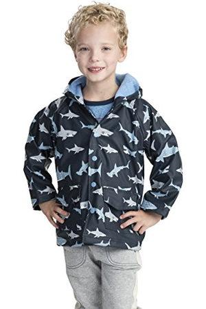 Hatley Pojkar tryckt regnjacka, blå (haj frenzy), 5 år