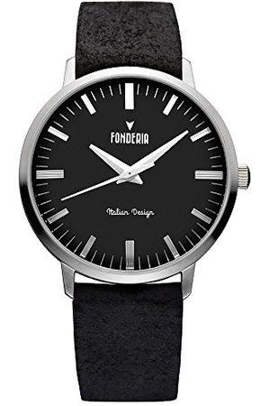 Fonderia Herr analog kvarts smartklocka armbandsur med läderarmband P-6A003UN3
