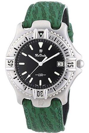 Mx Onda Kvartsklocka för män med urtavla analog display och grönt läderrem 32-6200-45