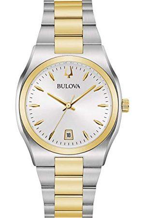 BULOVA Dam analog kvartsklocka med rostfritt stål armband 98M132