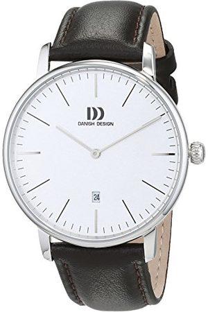 Danish Design Dansk design herr analog kvartsklocka med läderarmband 3314538