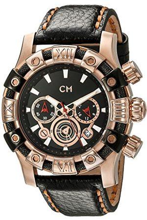 Carlo Monti Arezzo kvartsklocka för män med urtavla kronograf display och läderrem CM122-322
