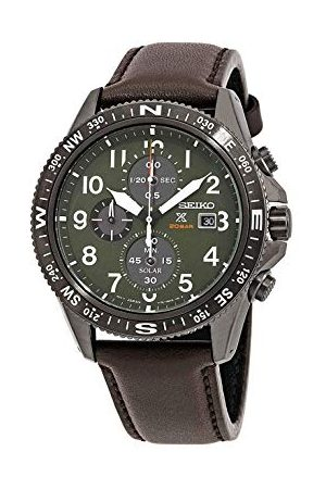 Seiko Herr kronograf soldriven klocka med läderrem SSC739P1