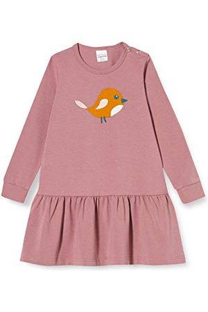 Green Cotton Baby flicka fågel frill klänning
