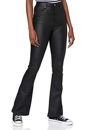 Dr Denim Dam Moxy Flare Jeans, metall, S 34