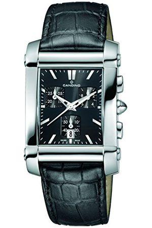 Candino Unisex-vuxen kronograf kvartsur med läderrem C4284/H