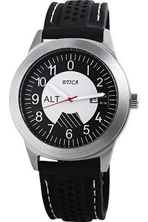 eTic Herr analog kvartsklocka med silikonarmband 200721000017