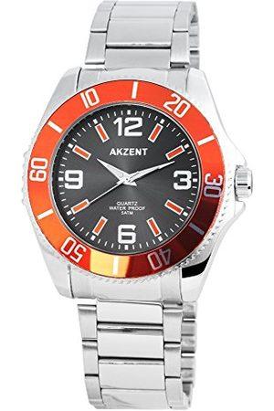 Akzent Unisex vuxna analog kvartsklocka med rostfritt stål armband SS7421500047