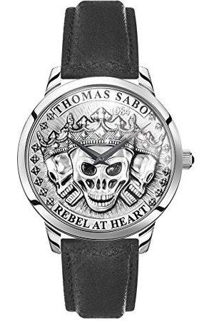 Thomas Sabo Analog kvartsklocka för män med läderrem Armband 42 mm