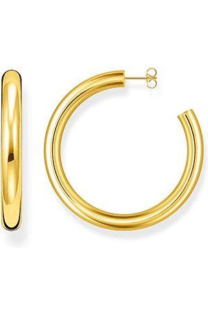 Thomas Sabo Kvinnor kreoler klassisk liten 925 sterlingsilver gult guld e Silver_guldpläterad, colore: , cod. CR638-413-39