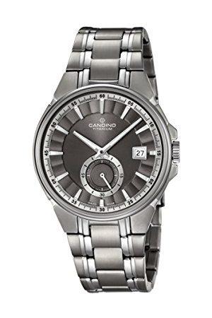 Candino Herr datum klassisk kvartsklocka med titan armband C4604/1