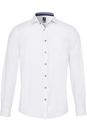 Pure Herr 4027-430 City Black lång ärm klassisk skjorta, Uni Marine, S