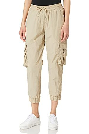 Urban classics Damer Ladies High Waist Crinkle nylon Cargo Pants byxor