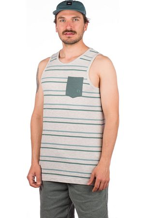 Kazane Adelsten Tank Top light heather grey/stripe
