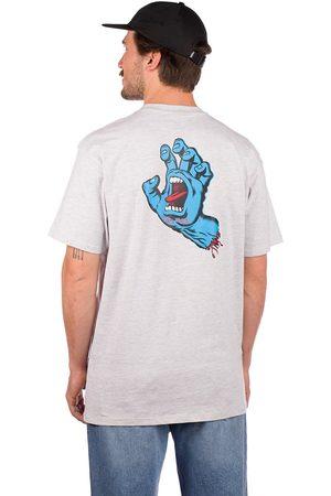 Santa Cruz Screaming Hand Chest T-Shirt athletic heather