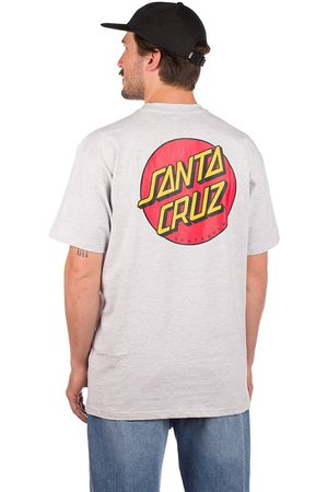 Santa Cruz Classic Dot Chest T-Shirt athletic heather