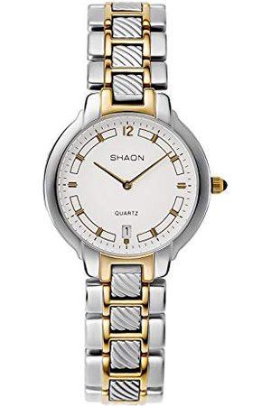 Shaon Män analog kvartsur med legering armband 36-8002-18