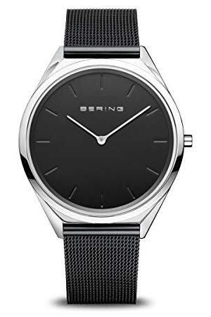 Bering Unisex analog kvartsklocka med rostfritt stål armband 17039–102