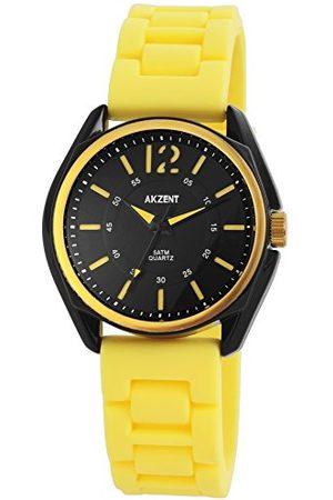 Akzent Unisex vuxna analog kvartsklocka med silikonarmband SS8671400004