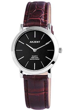 Akzent Herr analog kvartsklocka med läderarmband SS7721000024