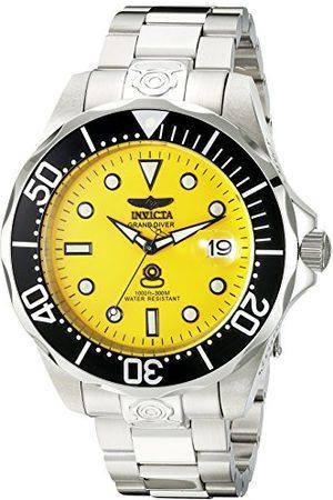Invicta Herr 3044 rostfritt stål Grand dykare automatisk klocka, silver/svart 3048