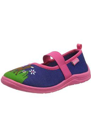 Playshoes Unisex barn sko låga tofflor, marinrosa 372-24/25 EU