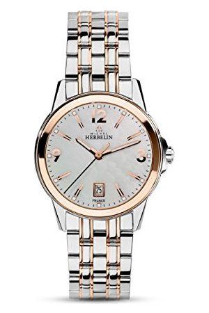 Michel Herbelin Unisex vuxna analog klocka med rostfritt stål armband 14250/BTR19