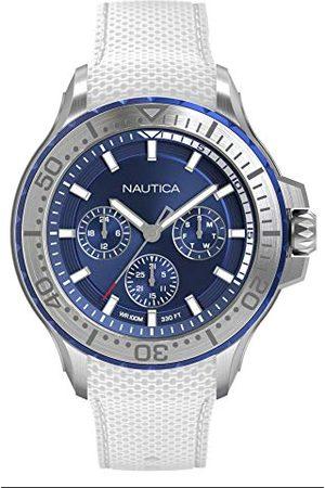 Nautica Herr analog kvartsklocka med silikonarmband NAPAUC001