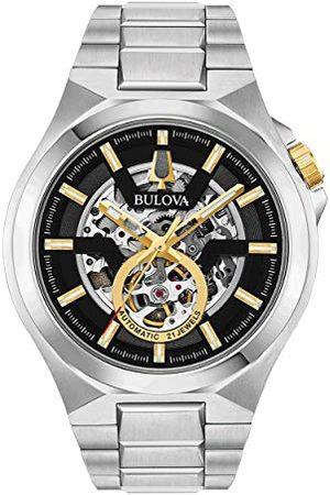 BULOVA Män analog automatisk klocka med rostfritt stål armband 98A224
