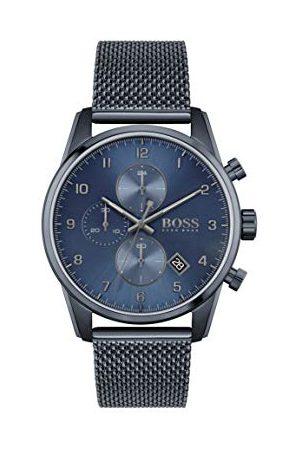 HUGO BOSS Herr analog kvartsklocka med rostfritt stålrem 1513836