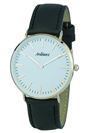 ARABIANS Analog kvartsklocka för män med läderrem HPA2229N