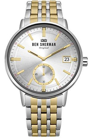 Ben Sherman Analog klassisk kvartsklocka för män med rostfritt stålrem WB071GSM