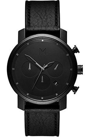 MVMT Mäns kronograf kvarts armbandsur med läderarmband