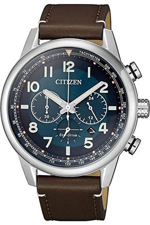 Citizen Män analog kvartsklocka med läderkalvläder armband CA4420-13L