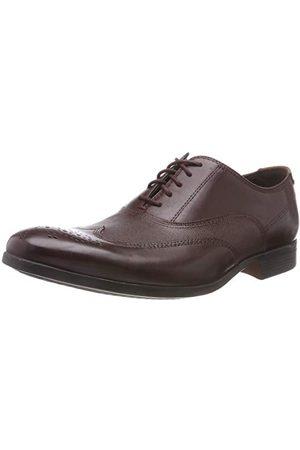 Clarks Herr Gilmore Wing Brogues, Brunt burgundy läder41 EU